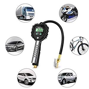 255 PSI Manometro per pneumatici ad alta precisione con schermo LCD per tutti i veicoli Camion nero per veicoli WZTO Manometro digitale per pneumatici e gonfiatore per pneumatici
