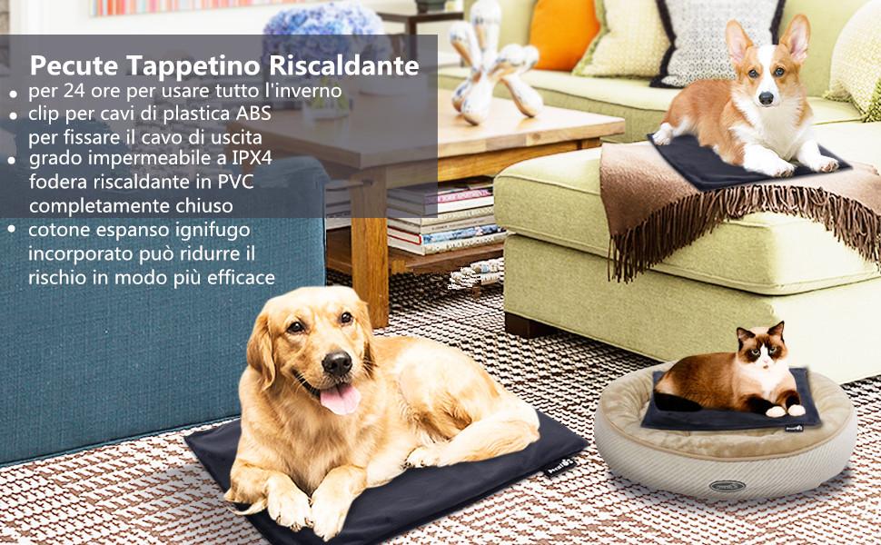 Tappeto Morbido Per Cani : Pecute tappetino riscaldante per cani impermeabile antigraffio