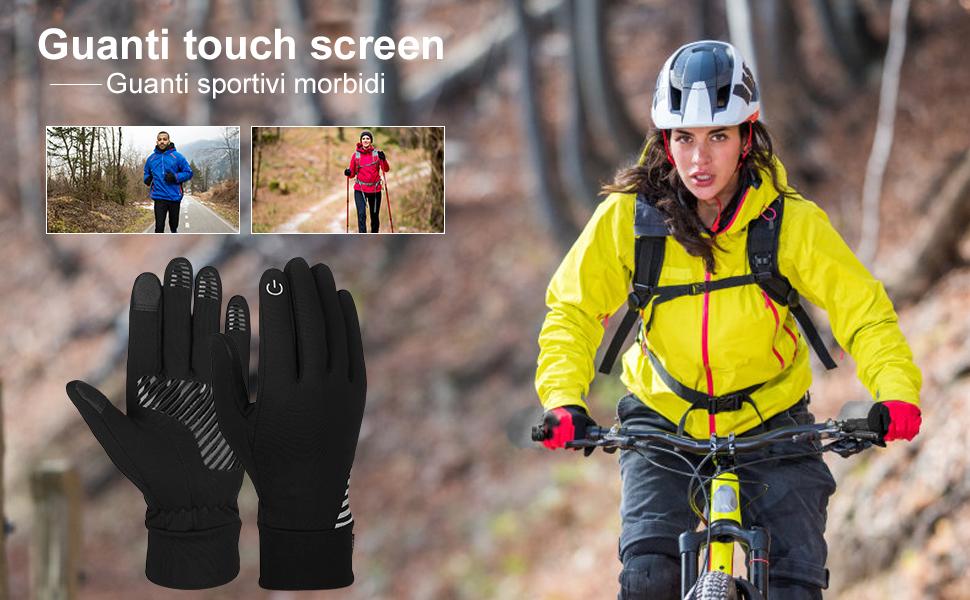 pedkit Guanti Touch Screen,Guanti da Ciclismo Guanti Caldi Antivento Impermeabili Invernali,Guanti Uomo,Guanti da Donna,Guanti da Sci Guanti da Lavoro,Taglia Regolabile