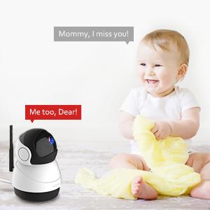 Victure FHD 1080P Telecamera di Sorveglianza WiFi,videocamera IP Interno Wireless, baby monitor, con Visione Notturna, Audio Bidirezionale, Notifiche in tempo reale del sensore di movimento