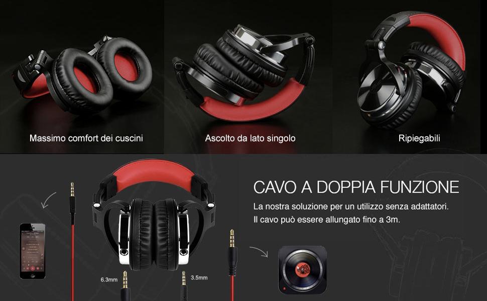 OneOdio Cuffie Over Ear Cuffie chiuse da Studio Back DJ per ... 2c168ccf02e0