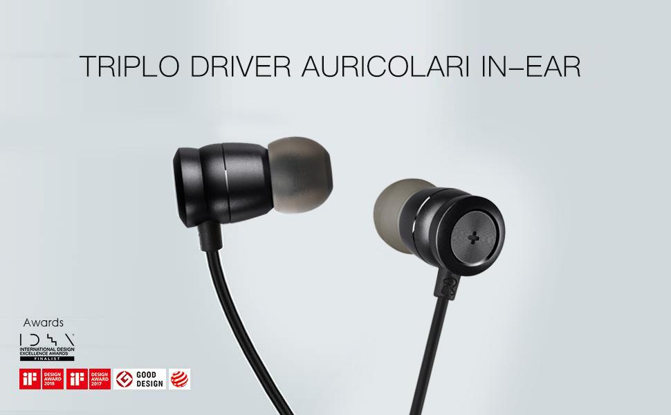 Triplo Driver Auricolari in-ear 62064bd7cd78