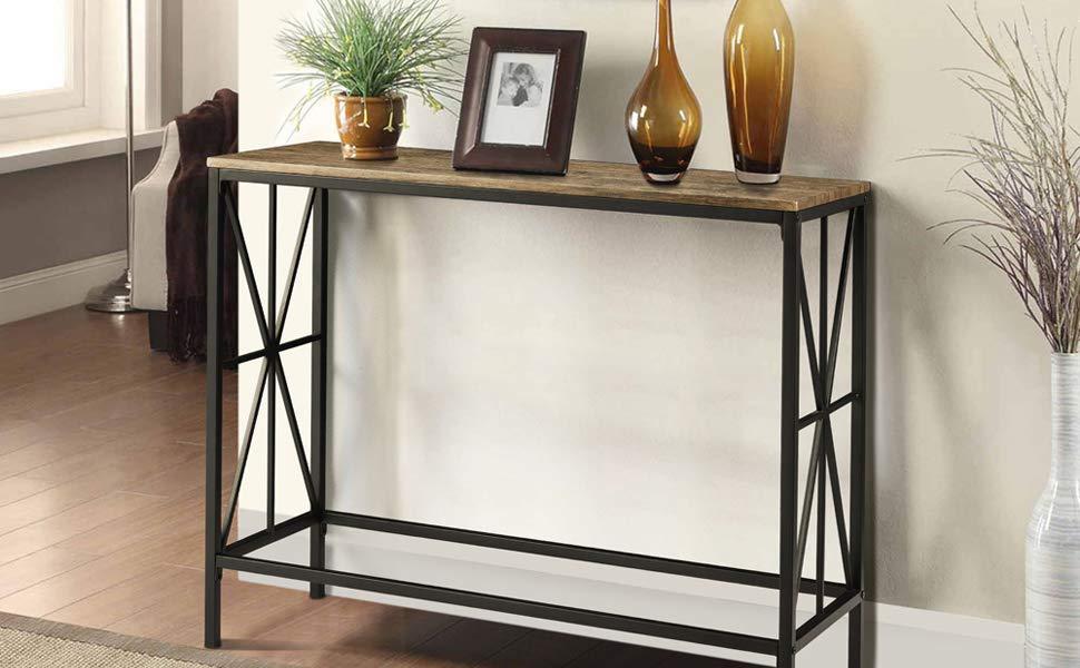 Tavolo Stile Industriale : Aingoo tavolino a consolle in stile industriale tavolino da ingresso