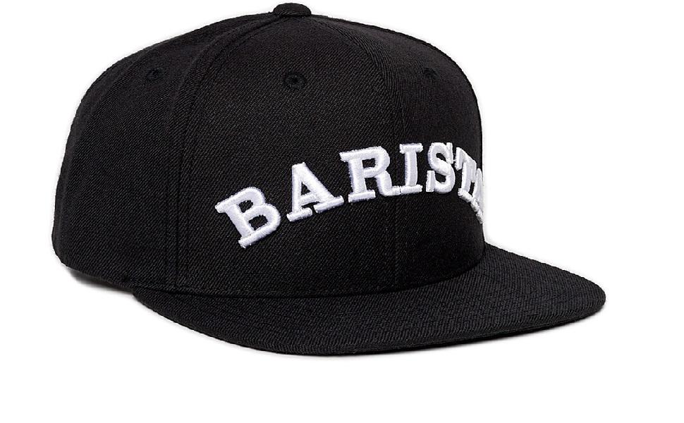 Dritan Alsela Barista Cap Cappellini da Baseball Snapback Nero ... b513615da536