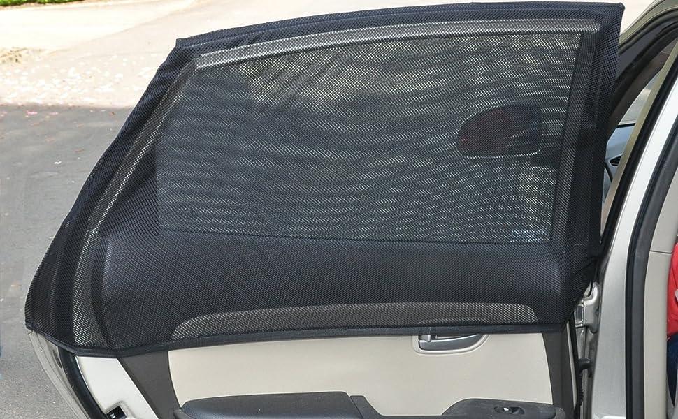 Grigio tende per oscuramento auto regolabili per tende da sole per interni auto parasole per la maggior parte delle auto SUV Tende per auto 2 x 50s