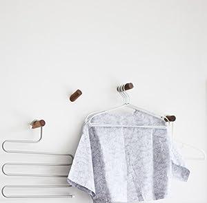 anaan One-Tenth Appendiabiti da Parete Legno Attaccapanni Muro Ganci appendi Cappotti Moderno Design Ingresso Decorazione Scandinave 1x Faggio, S /Φ3*6cm