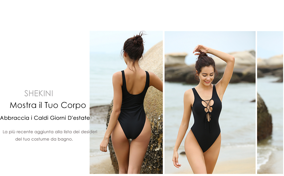 Shekini sexy donna costumi interi brasiliano push up monokini
