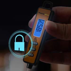 Display LCD retroilluminato e pulsante di blocco: