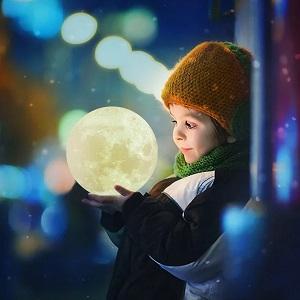 Luna Lampada 3 Colori