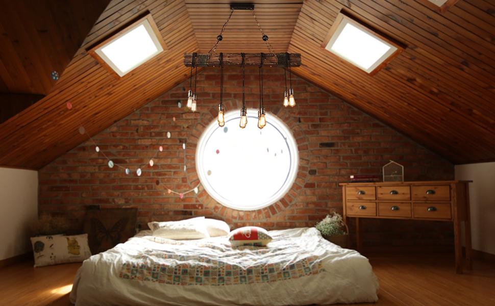 Plafoniere Per Travi Legno : Lampadario vintage lampade sospensione legno lampadari industriale