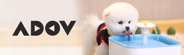 ADOV Fontana per Gatti 2.5L Distributore Bere Indoor e Outdoor Elettrico Automatico con 3 Stage Filtrazione Cani Super Silenzioso Stile Fiore Portatile Fontanella per Gatti Animali Piccoli o Medi