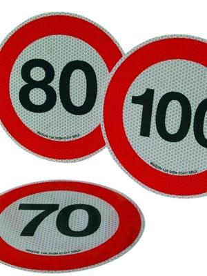 LAMPA 98441 Disco Limite Velocita 70 Km Omologato Diametro 200