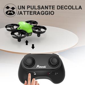 Un pulsante decolla/atteraggio