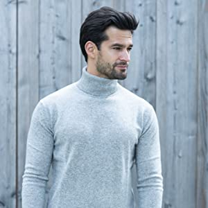 dolcevita pullover uomo cachemire 100