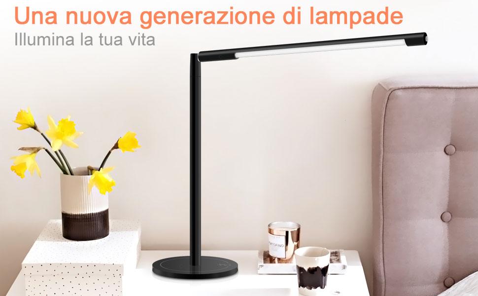 Ghb lampada da tavolo a led dimmerabile lampada da scrivania