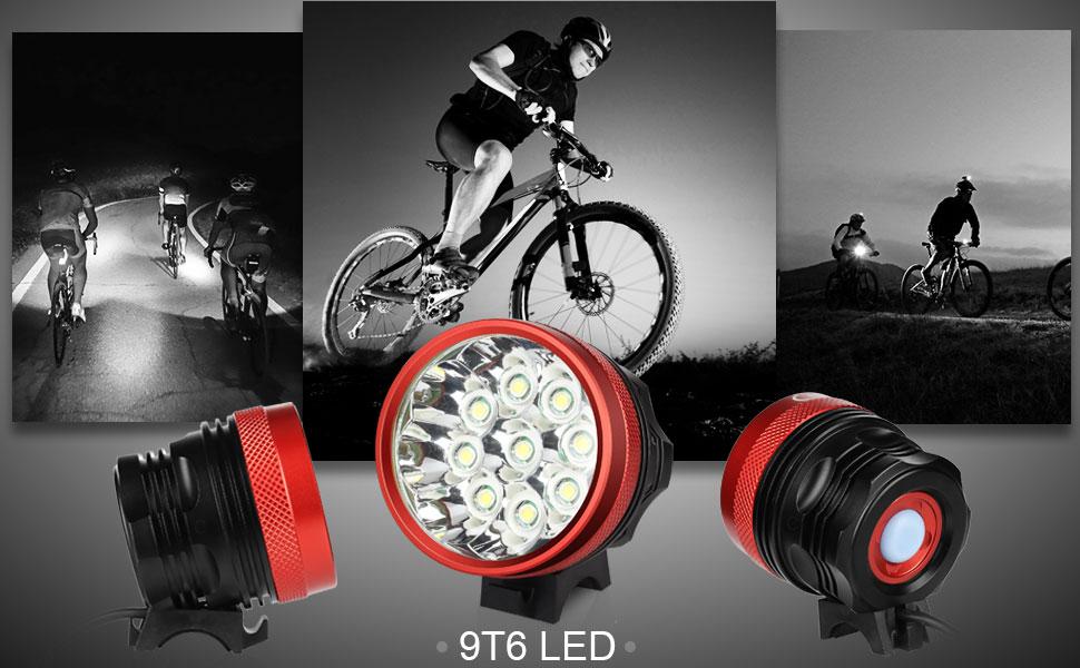 Ghb led faro per bici luce mtb faro bicicletta lm modalità