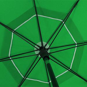 SONGMICS Ombrellone Diametro d/'Arco 1,8/m Verde GPU60GN Base Non/Inclusa Borsa da Trasporto Ombrellone da Spiaggia/in Poliestere Ottagonale Giardino Balcone Piscina Meccanismo Inclinazione