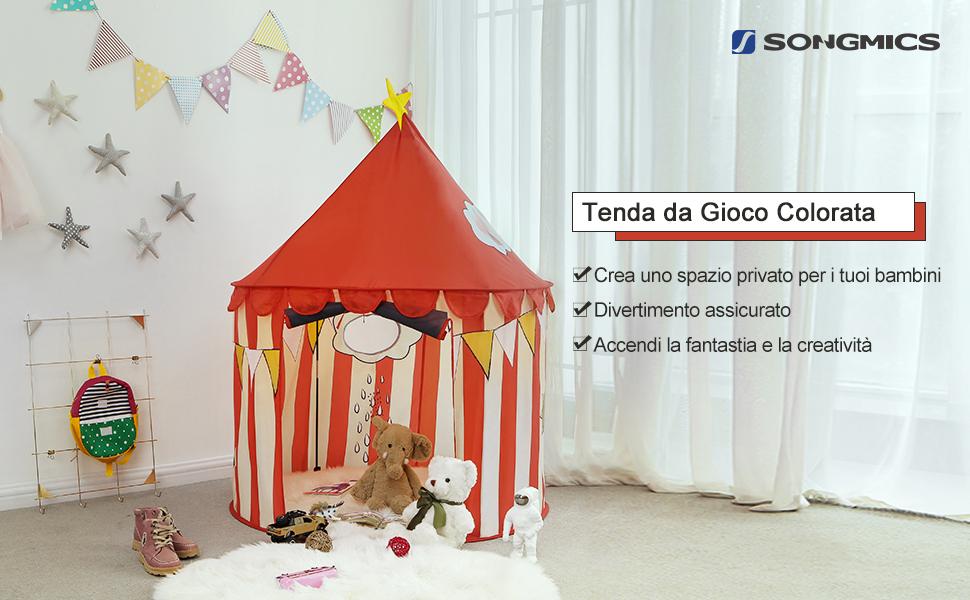 Songmics tenda da gioco per bambini castello per casa e giardino