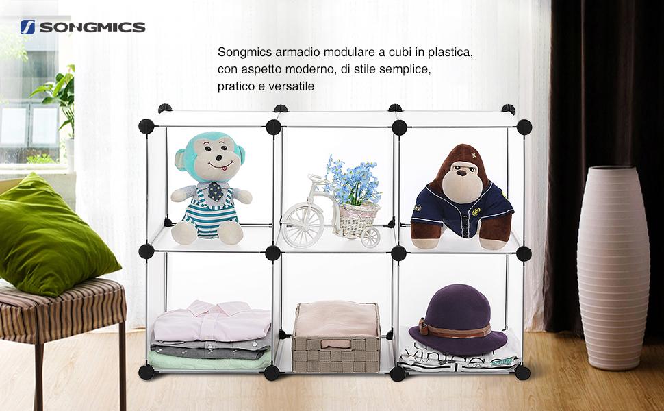 Credenza Per Bagno : Songmics armadio per guardaroba scaffale il bagno scarpiera
