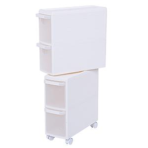 Songmics carrello con quattro cassetti giapponese scaffale scaffale da cucina mensola da - Mobile porta detersivi ...