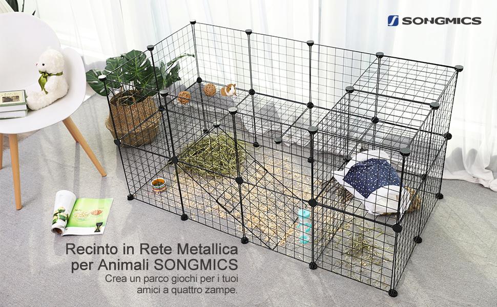 Pavimento In Gomma Per Box Cani : Songmics recinzione per animali a piani recinto personalizzabile