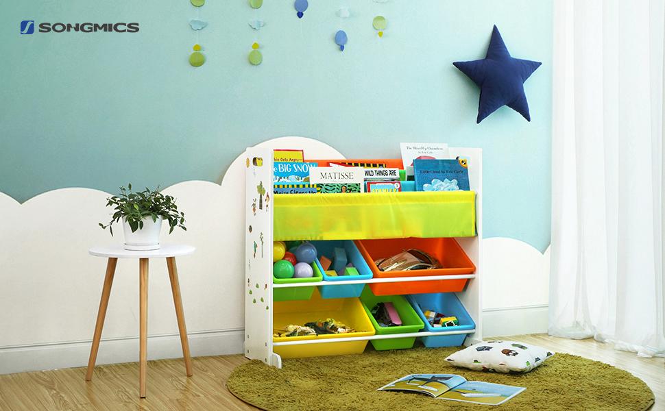 Mobili Per Giochi Bambini : Songmics scaffale porta giocattoli per bambini libreria mensola