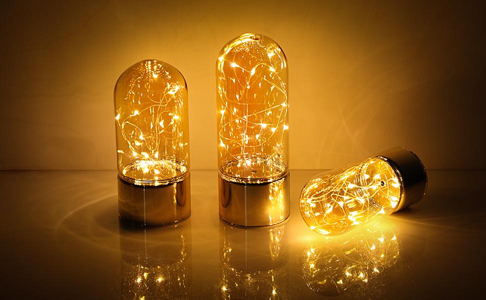 Camera Da Letto Color Champagne : Songmics lampade di vetro set di luci datmosfera lampade