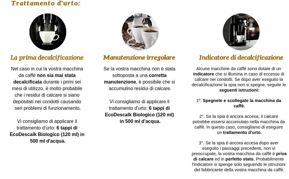 EcoDescalk Biologico per Macchine da Caffè