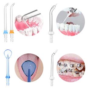 Idropulsore Dentale Portatile Professionale, con 5 Ugelli di Ricambio,300 ml di Grande Capacità,3 Modalità IPX7 Impermeabile Irrigatore Orale Elettrico USB Ricaricabil per Casa, Viaggio, Ufficio