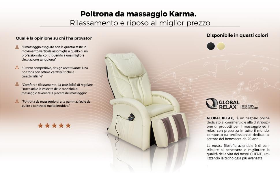 KARMA Poltrona massaggiante Shiatsu 2D - Nero (modello 2019 ...