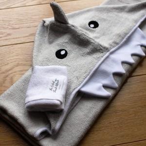 hooded towel shark bamboo baby newborn toddler gift