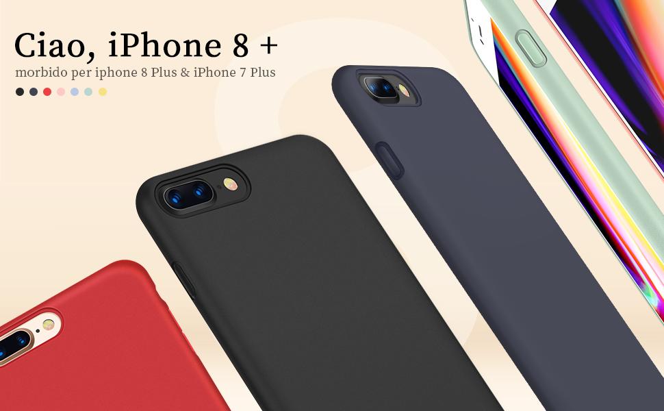 custodia iphone 8 con tasca
