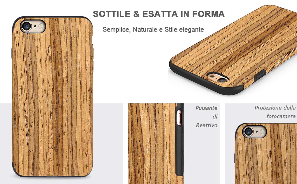 cover iphone 6 stile legno