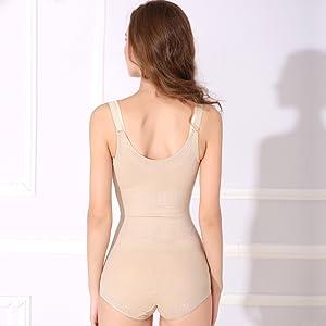 Aibrou Body da Donna in Pizzo con Scollo a V Controllo Pancia Shapewear Body pi/ù Sottile Body pi/ù Sottile Cincher
