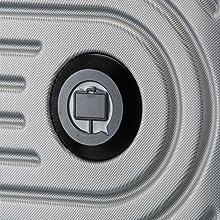 HAUPTSTADTKOFFER - Mitte - Valigia rigida di dimensioni medie, bagaglio da imbarcare con estensione di 8 cm per aumentarne il volume, TSA, con 4 ruote gommate doppie, 68 cm, 88 L, Nero