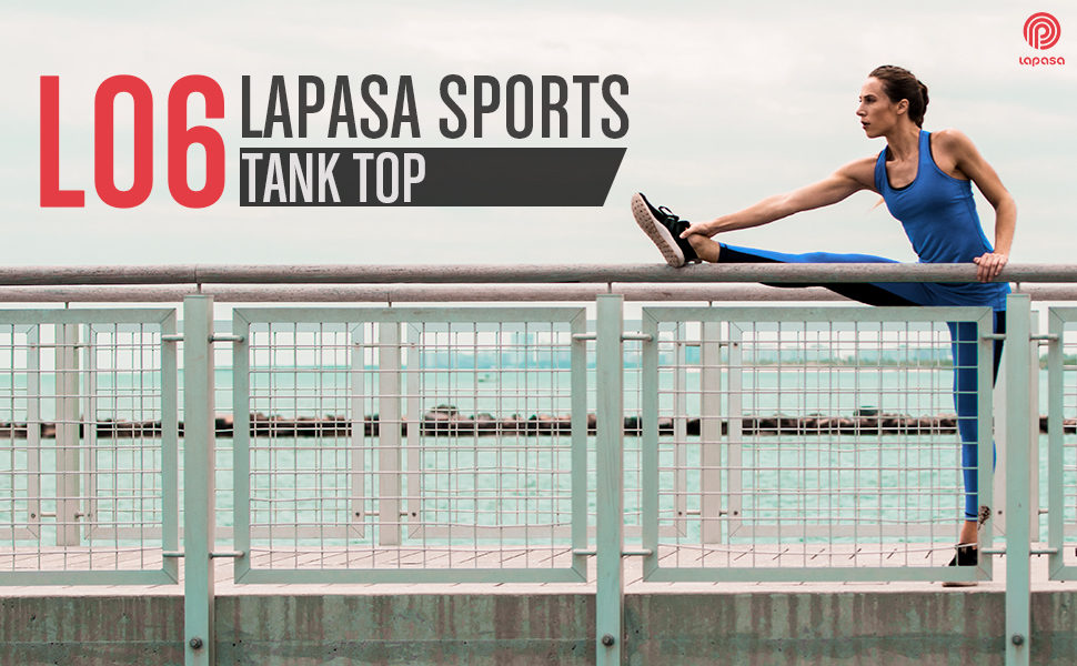 LAPASA Tank Top Donna Canotta Sportiva Yoga Fitness Running Vita Dimagrente L06