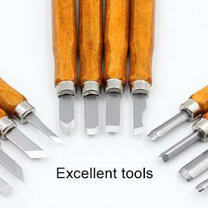 Set di 3 Assortiti Taglie HAND Double Ended Scultura di Legno Hobbycraft Xilografia Tutti attrezzo Metallico//Scalpelli
