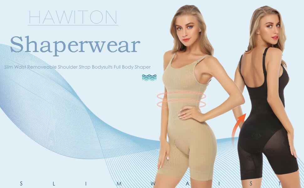 e8c7e0fdae119f Hawiton Donna Body Intimo Modellante Corsetto Elastico Contenitivo  Snellente Bodysuit Controllo Peso Shapewear