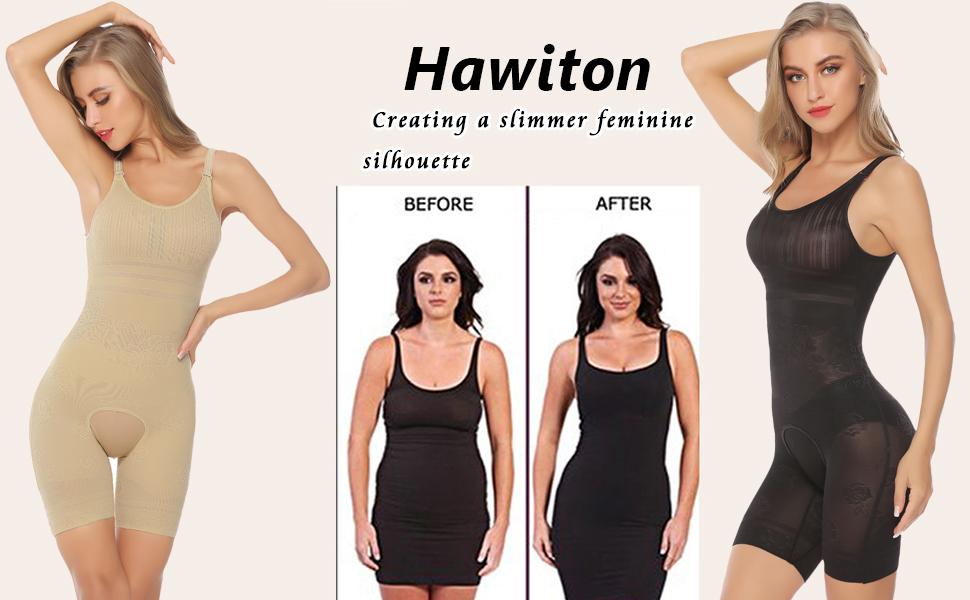 8e3c473b70eba8 Hawiton Donna Body Intimo Modellante Corsetto Elastico Contenitivo  Snellente Bodysuit Controllo Peso Shapewear. 1. u
