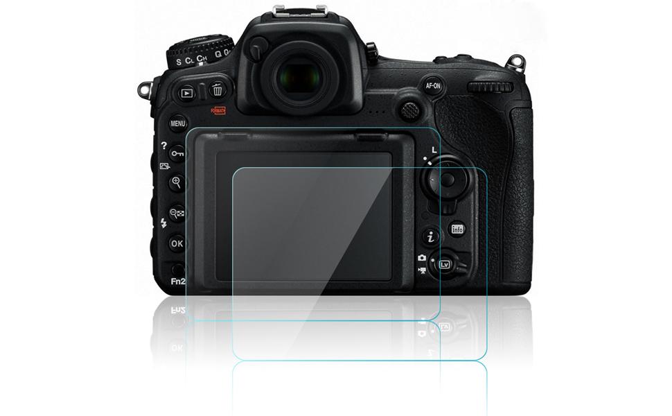 AFUNTA 2 Pack Pellicola Vetro Temperato Screen Protector Proteggi Schermo Antigraffio per DSLR Camera Pellicola Protettiva per Nikon D500