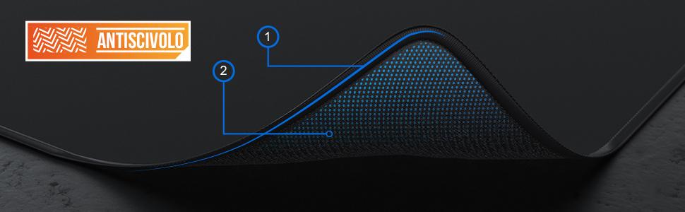 Spessore 3mm TITANWOLF Gaming Mousepad Super Grande 440 x 350mm Modello: Epsilon Pad con Base in Gomma Antiscivolo XL Tappetino per Mouse da Gioco Nero