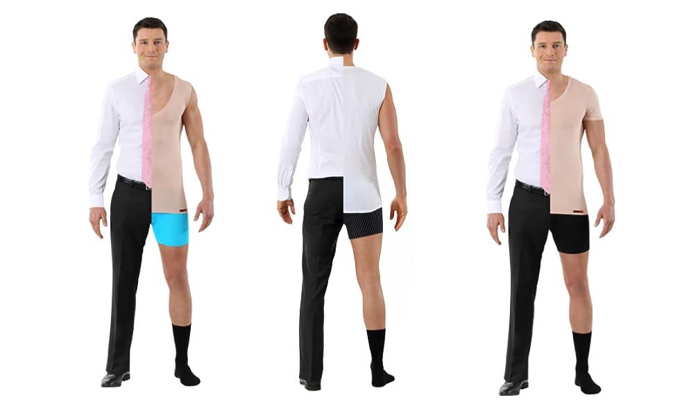 5c33eb6aca1903 biancheria intima invisibile maglietta color carne per uomo sotto la camicia  t-shirt canottiera slim
