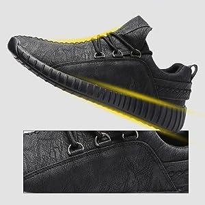 Sneakers da Ginnastica Sportive Scarpe da Passeggio Jogging Vegane Calzature da Allenamento Uomo Lace up Nero Marrone Grigio 38 43