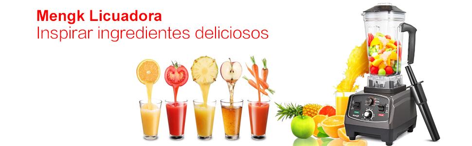 Licuadora / Batidora de Vaso, MengK Licuadoras Kitchen Mezclador ...
