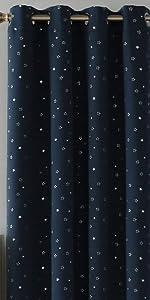 tende con stelle tende blu