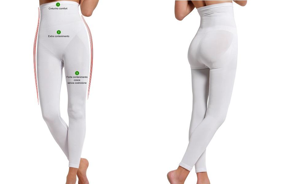 SENSI Leggings Modellante Donna Push Up Microfibra Senza Cuciture Seamless Made in Italy