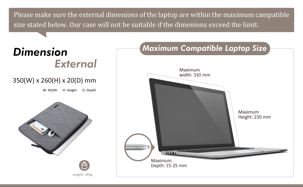 """Zainetto Laptop Scuola Borsa Per 14/"""" LENOVO IDEAPAD 330s//HP 14 13.3/"""" DELL XPS 13"""