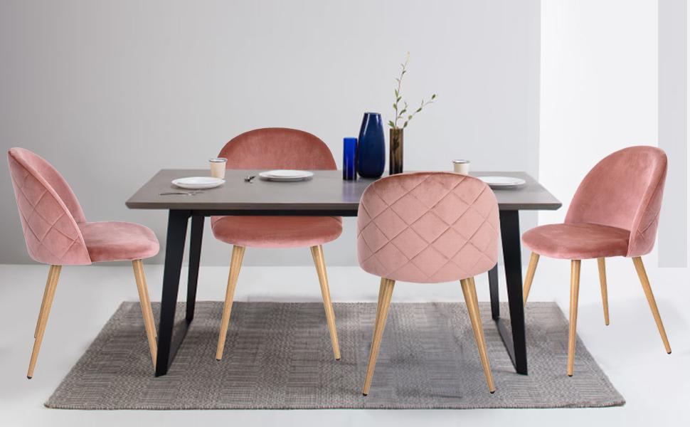 Coavas set di 2 sedie da pranzo sedie con sedile e schienale in