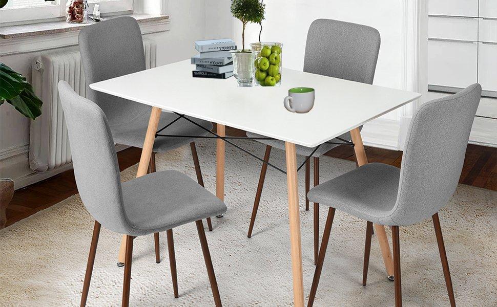 Sedie Per Sala Da Pranzo Milano : Coavas sedie da pranzo set di 4 sedie da cucina in tessuto con