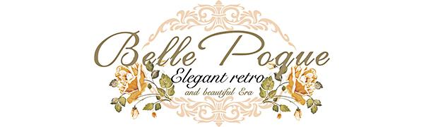 Belle Poque Donna V Neck Abito Vintage Senza Bretelle Elegante a Maniche Corte Blu Navy Taglia 36 BP158-3